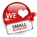 We love small businesses graphic